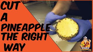 How to cut a fręsh pineapple the correct (and easy) way