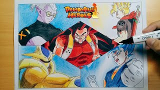 Speed Drawing!!! Cumber, Cooler, Vegito, Trunks and Fu in Dragon Ball Heroes episode 2 by Nam Art