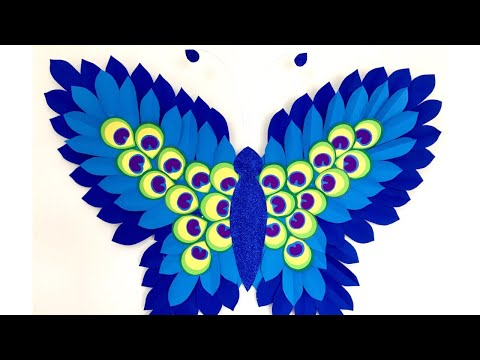 Unique Paper Wall Hanging | Paper Butterfly Wall hanging | Room decor ideas