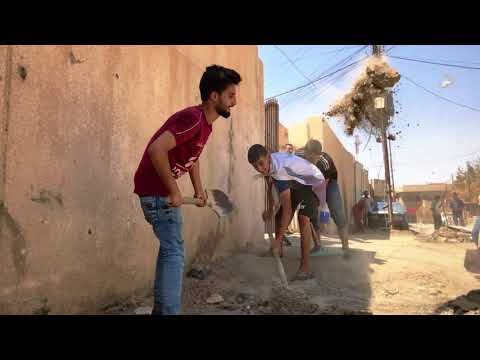 The first Cleaning Campaign In The West Bank Of Mosul