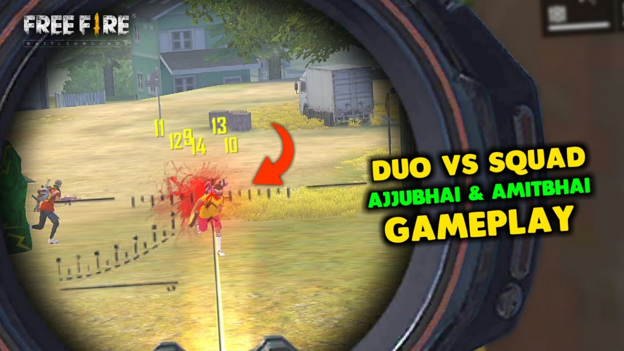 Amitbhai Chimkandi He! Duo vs Squad Op Gameplay - Garena Free Fire