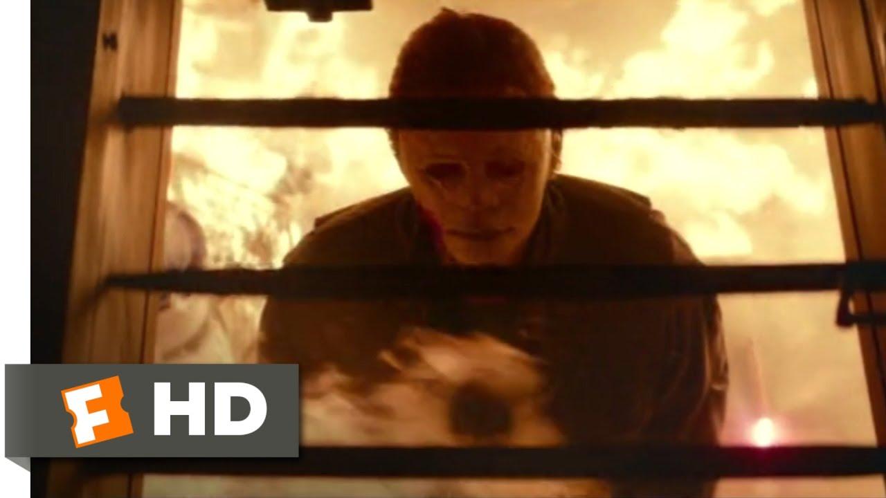 Halloween 2020 Myers Basement Fire Halloween (2018)   Burned Alive Scene (10/10) | Movieclips   YouTube