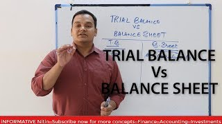 Difference Between Trial Balance and Balance Sheet::Trial Balance vs Balance Sheet