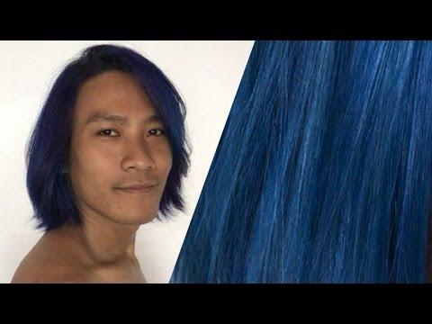 Denim Blue Hair Sparks Color