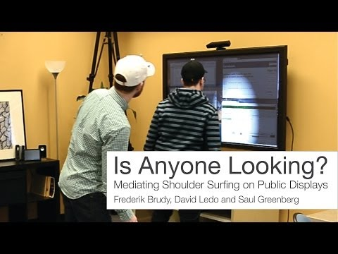 Is Anyone Looking? Mediating Shoulder Surfing on Public Displays (The Video).