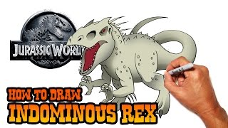 How to Draw Indominous Rex (Jurassic World)- Step by Step