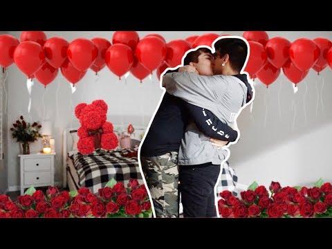 SURPRISING MY BOYFRIEND FOR VALENTINES DAY! (Romantic!)