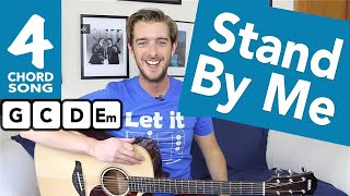 Stand By Me Guitar Tutorial - Easy Guitar Songs for Beginners - How To Play Guitar Songs