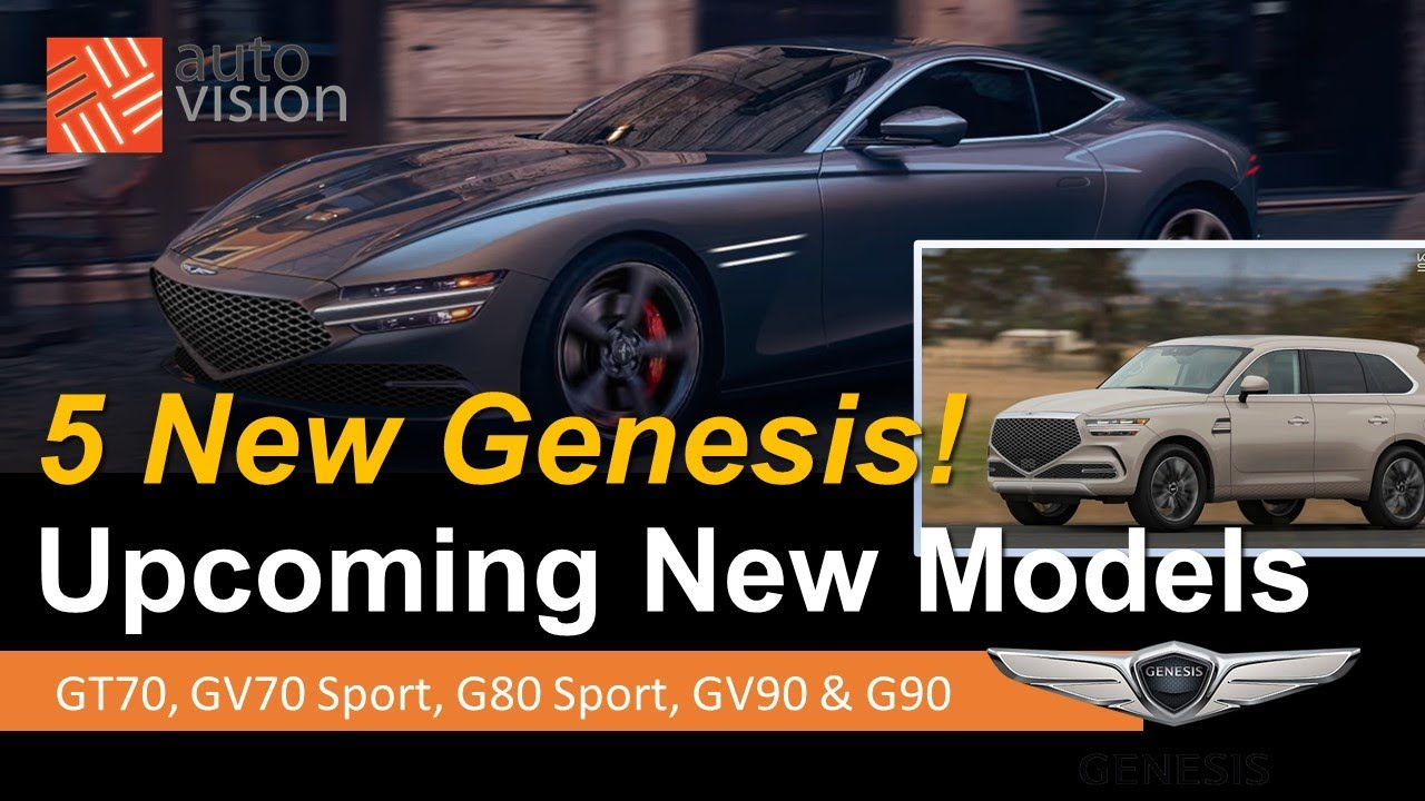 5 New Upcoming Genesis Models!  We Uncover GT70 G70 Sport G80 Sport GV90 and the All New G90!
