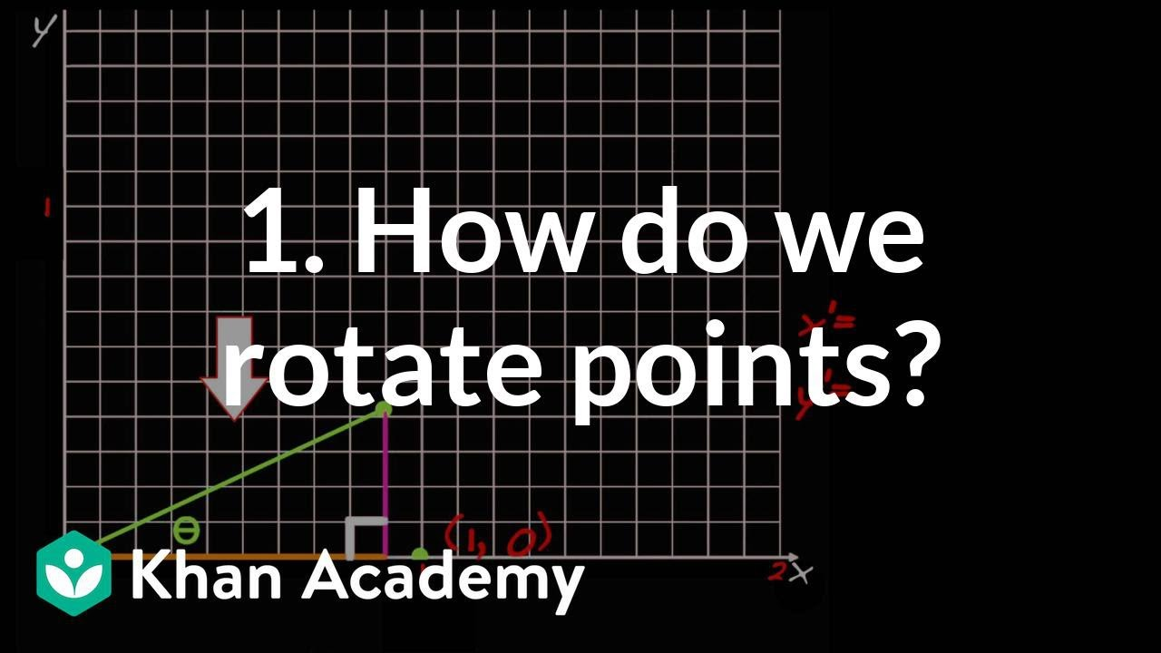 1  How do we rotate points? (video)   Khan Academy