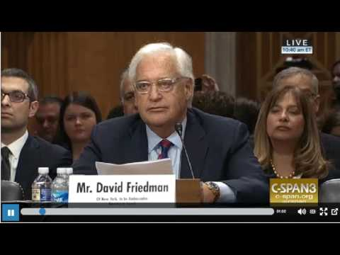 Protesters at the David Friedman Confirmation Hearing