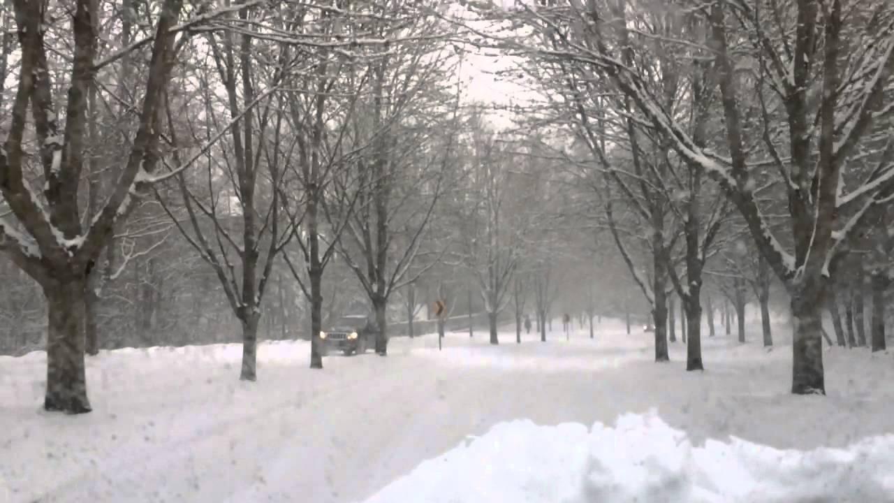 Drive In Snow Portland Oregon 2014 - YouTube