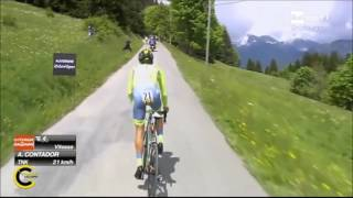 ALBERTO CONTADOR cronoscalata Giro del Delfinato 2016