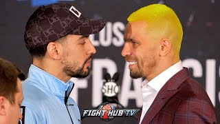WHY SO SERIOUS? IVAN REDKACH GIVES DANNY GARCIA JOKER SMILE DURING FACE OFF AT FINAL PRESSER