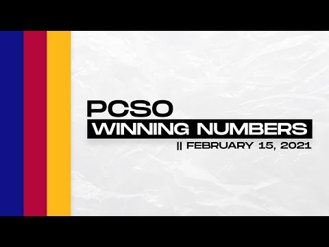 PCSO Lotto Draw - Feb. 15, 2021