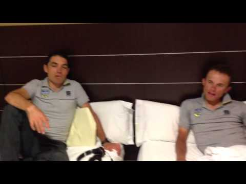 La Vuelta backstage by Saxo Bank - day 11: Roommates Rafal and Oliver