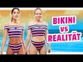 Bikini Mode 2018 im TEST I Werbung VS Realität   Der Sommer ist da! Aber welcher Bikini taugt für den Strand-Alltag und welcher ist nur auf Instagram schön anzusehen? Ich bewerte für euch die neuste Bikini Mode in einer neuen Werbung VS Realität Folge.  Welchen Bikini findet ihr am schönsten? Schreibt es in die Kommentare :)  Hier findet ihr die Bikinis, die ich getragen habe: 1. Bikini: http://www.asos.com/asos-elastic-stripe-bandage-cross-front-high-leg-high-waist-bikini-set/grp/19140?clr=rosablau&SearchQuery=bikini&gridcolumn=2&gridrow=1&gridsize=2&pge=1&pgesize=72&totalstyles=4484  2. Bikini: http://www.asos.com/rvca-south-swell-bikini-top/grp/19437?clr=blau&SearchQuery=bikini&gridcolumn=2&gridrow=19&gridsize=2&pge=3&pgesize=72&totalstyles=4502  3. Bikini: http://asos.com/de/asos/asos-design-premium-tief-ausgeschnittener-badeanzug-mit-spitzencape/prd/9119743?clr=rosa&SearchQuery=badeanzug&gridcolumn=2&gridrow=5&gridsize=2&pge=1&pgesize=72&totalstyles=67  4.Bikini: Oberteil:  https://www.hunkemoller.de/de_de/63-triangel-bikinitop-reef-gem-blogger-caro-e-gelb-131142.html Unterteil: https://www.hunkemoller.de/de_de/63-brazilian-bikini-reef-gem-blogger-caro-e-gelb-131176.html  5. Bikini: Oberteil: https://www.hunkemoller.de/de_de/63-bikini-croptop-entangled-blogger-caro-e-rot-131210.html Unterteil: https://www.hunkemoller.de/de_de/63-bikinislip-entangled-blogger-caro-e-rot-131057.html  Noch mehr Werbung VS Realität findet ihr hier: https://www.youtube.com/playlist?list=PL6sF1Dc83hE08ewhYIr47WJm7Wjxfql_A  Hier kostenlos meinen Kanal abonnieren: https://goo.gl/mpM6hb  Instagram @KleinaberHannah Facebook.com/KleinaberHannah Twitter @KleinaberHannah  Mein Koch-Kanal Klein aber Lecker: https://goo.gl/sba3E9 Besucht mich auch auf meinem Blog: http://kleinaberlecker.de  Weil jetzt schon so oft danach gefragt wurde: Mein Objektiv*: http://amzn.to/1gFQxuc Mein Ton*: http://amzn.to/1NkJ4ym  * Falls Ihr das Produkt über diesen Link kaufen solltet, werde ich zu einem kleinen Te