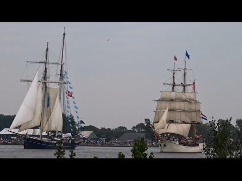 Dutch Ships (Sail 2015): Mare Frisium + Wylde Swan + Europa  + Naaldwijk