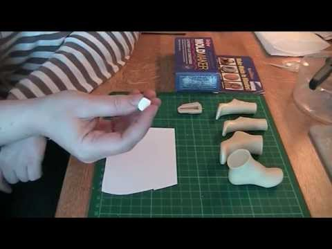 fds tutorial mold making clay  heels part 1  youtube
