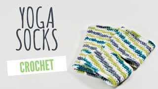 Crochet Custom Sized Yoga Socks Tutorial