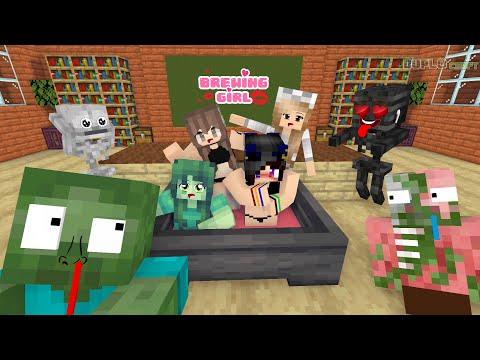 MONSTER SCHOOL - Brewing Girls  | Minecraft Animation