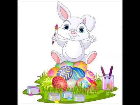 easter clip art bunny coloring
