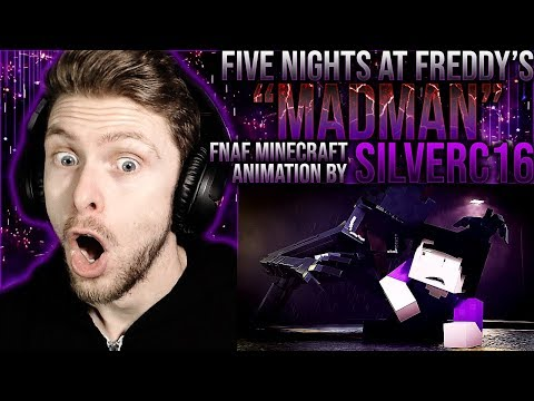 "Vapor Reacts #964 | FNAF MINECRAFT MUSIC VIDEO ""Madman"" By SilverC16 REACTION!!"
