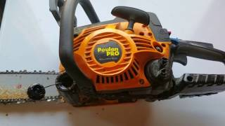 how to put gas and bar oil in a poulan pro chainsaw