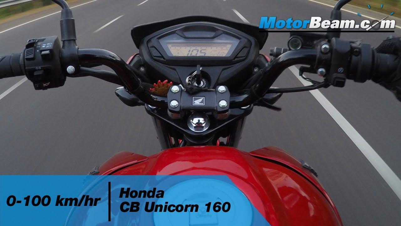 honda cb unicorn    kmhr top speed motorbeam youtube