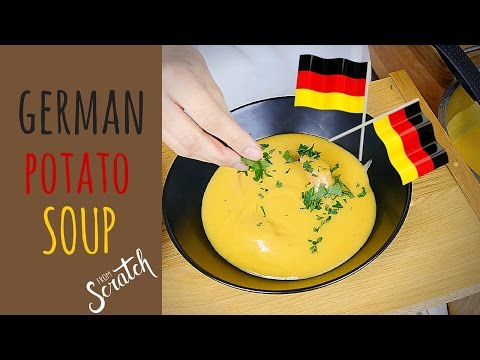 "how to make german POTATO SOUP / (kartoffelsuppe) with ""Christin's Cuisine"""