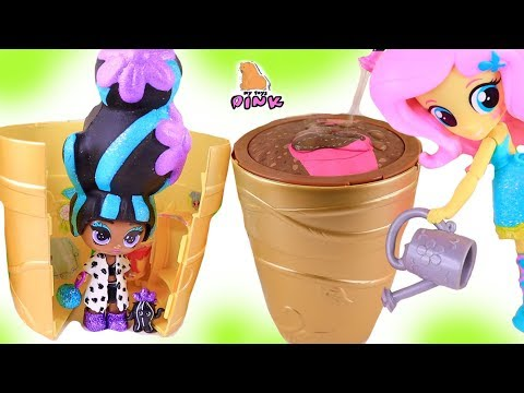 КУКЛЫ - ЦВЕТЫ! My Little Pony Equestrian Girls Discover SURPRISE FLOWER DOLLS! ЛОЛ + Пони Мультик