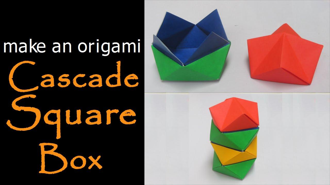 make an origami cascade square box youtube