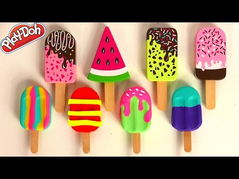 Play Doh Ice Cream and Popsicle Toys for Kids