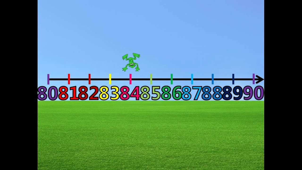 Counting 80 90 On The Number Line With Froggy Youtube
