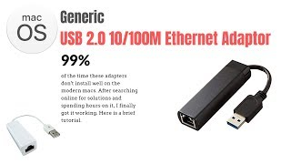 Gambar cover How to fix USB Ethernet adapters not working on Mac OS