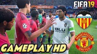 FIFA 19 | Valencia CF vs Manchester United - Estadio Mestalla - Champions League