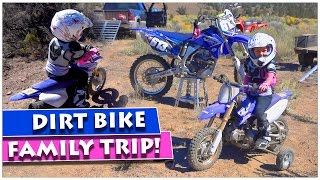 KIDS FIRST DIRT BIKE FAMILY RIDE 🚵 The Whole Family Heads Out For A Trail Ride