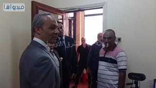 بالفيديو :  رئيس جامعة بنها يستقبل اللواء محمد توفيق مدير امن القليوبية