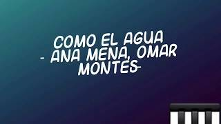 COMO EL AGUA (REMIX) - ANA MENA, OMAR MONTES - LYRICS (LETRA).mp3