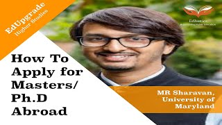How to Apply for Masters/Ph.D in Economics Abroad   M.R. Sharan, University of Maryland   EdUpgrade