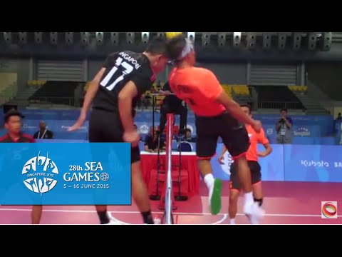 Sepaktakraw Men's Regu Philippines vs Singapore (Day 8) | 28