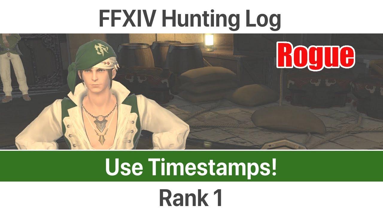 Rogue hunting log rank 1 - Ffxiv Leveling Rogue Level 1 10 Hunting Log Rank 1 A Realm Reborn