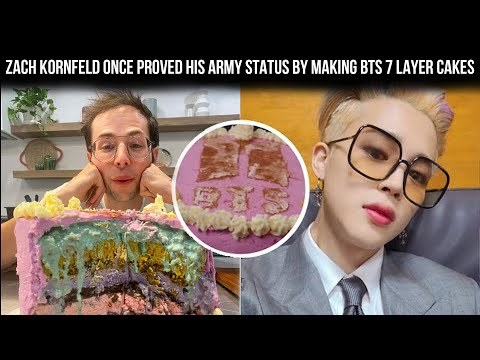 The Try Guys Zach Kornfeld Once Proved His ARMY Status By Baking A 7 Layer BTS Cake – Bangtan Army