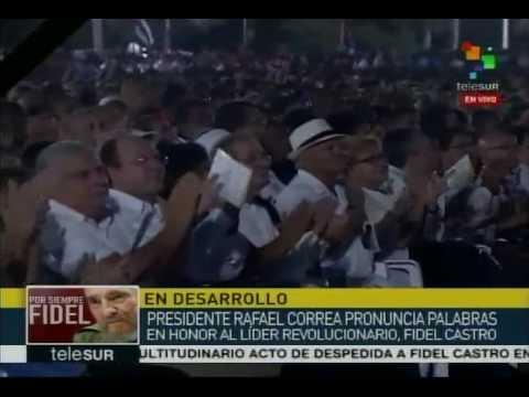 Discurso de Rafael Correa en La Habana, homenaje a Fidel Castro tras su fallecimiento