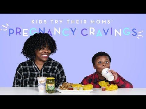 Kids Try Their Moms' Pregnancy Cravings | Kids Try | HiHo Kids