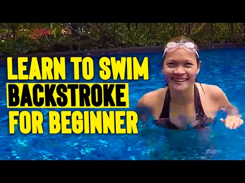 BEGINNER GIRL Learn To SWIM BACKSTROKE In 15 Minutes