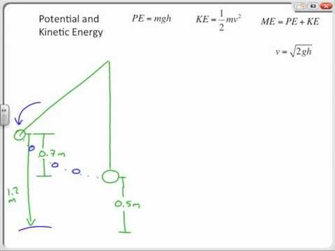 Potential Energy and Kinetic Energy Sample Problems, Chapter 11 ...