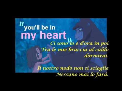 Tarzan -  Sei dentro me (lyrics)