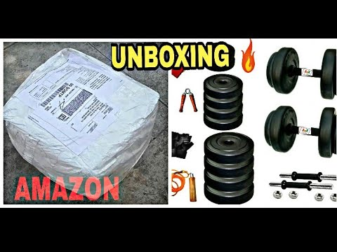 UNBOXING 10KG HOME GYM DUMBBELLS & REVIEW||AMAZON||BY BANTAIZ NUMBER ONE