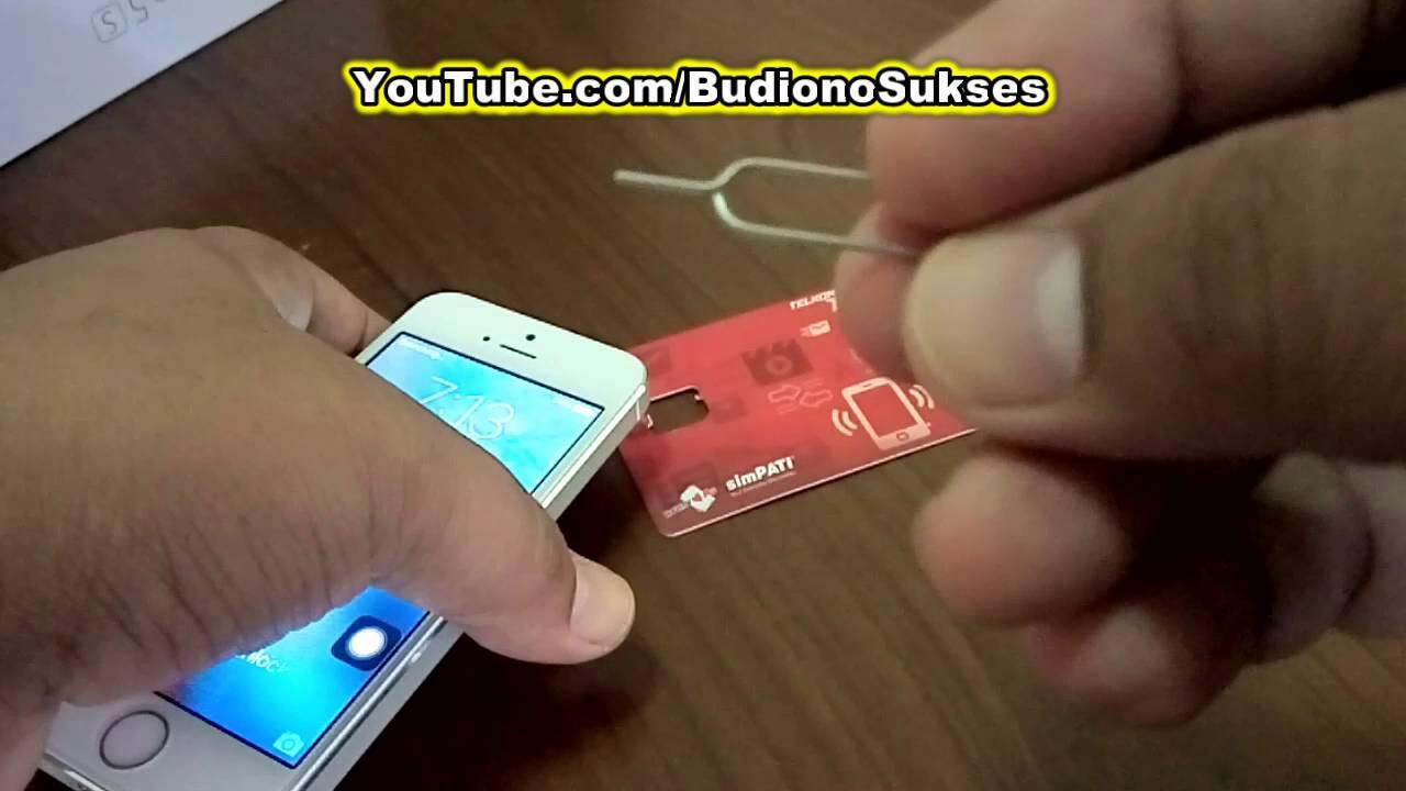 Cara Mengeluarkan Dan Memasukan Nano Sim Card Pada Iphone 5 6 7 Youtube